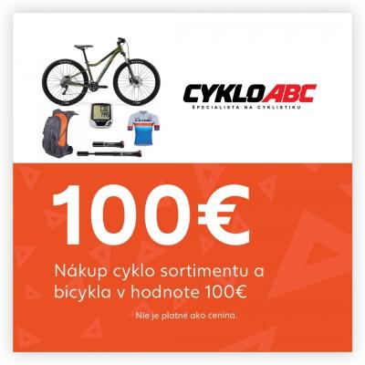 Nákup cyklo sortimentu a bicykla 100€