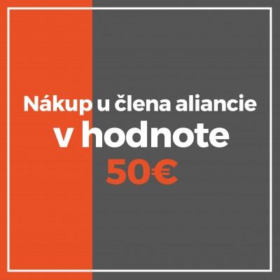 Nákup u člena 50€